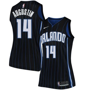 Women's D.J. Augustin Orlando Magic Nike Swingman Black Jersey - Statement Edition