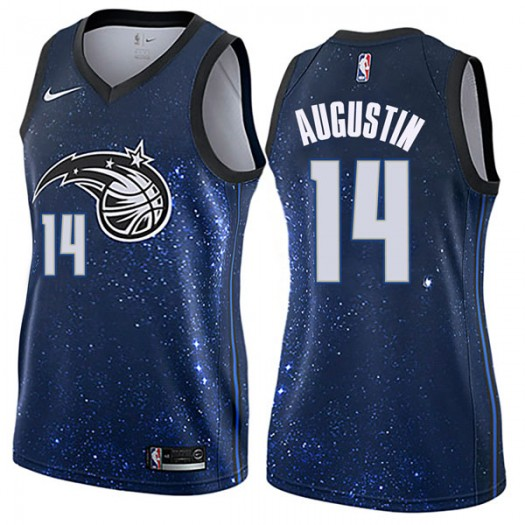 Women's D.J. Augustin Orlando Magic Nike Swingman Blue Jersey - City Edition