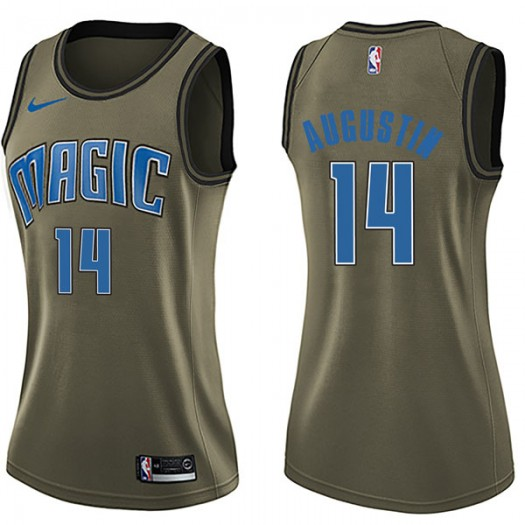 Women's D.J. Augustin Orlando Magic Nike Swingman Green Salute to Service Jersey