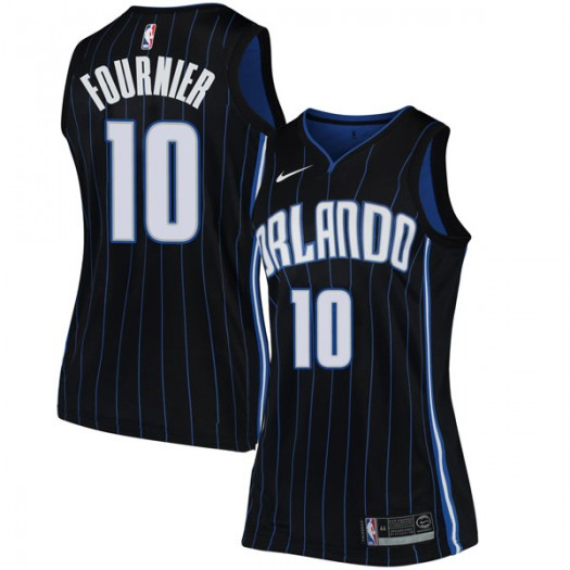 Women's Evan Fournier Orlando Magic Nike Swingman Black Jersey - Statement Edition