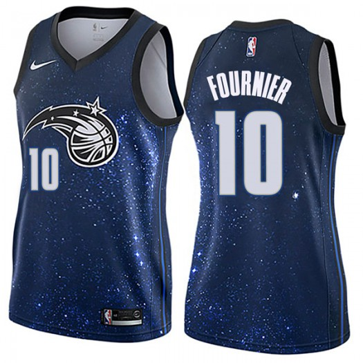 Women's Evan Fournier Orlando Magic Nike Swingman Blue Jersey - City Edition