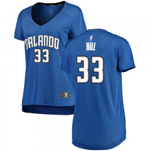 Women's Grant Hill Orlando Magic Fanatics Branded Swingman Royal Fast Break Jersey - Icon Edition