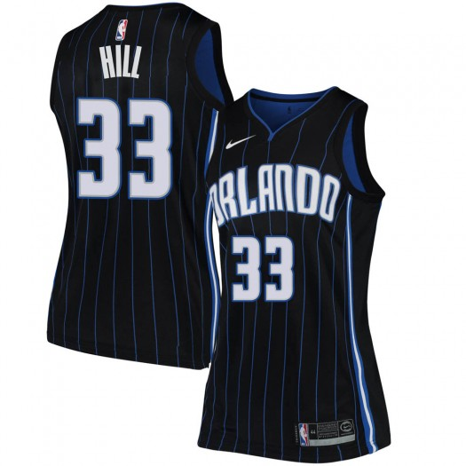 Women's Grant Hill Orlando Magic Nike Swingman Black Jersey - Statement Edition