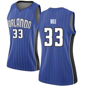 Women's Grant Hill Orlando Magic Nike Swingman Royal Jersey - Icon Edition