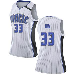 Women's Grant Hill Orlando Magic Nike Swingman White Jersey - Association Edition
