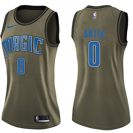 Women's Jamel Artis Orlando Magic Nike Swingman Green Salute to Service Jersey