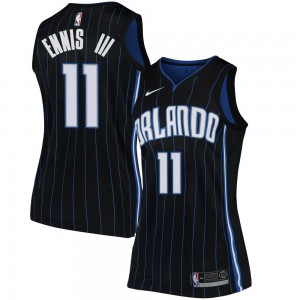 Women's James Ennis III Orlando Magic Nike Swingman Black Jersey - Statement Edition