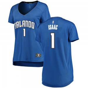 Women's Jonathan Isaac Orlando Magic Fanatics Branded Swingman Royal Fast Break Jersey - Icon Edition