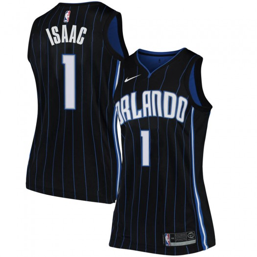 Women's Jonathan Isaac Orlando Magic Nike Swingman Black Jersey - Statement Edition