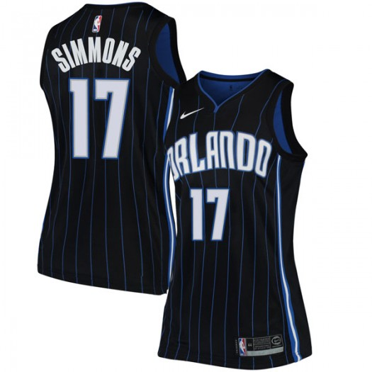 Women's Jonathon Simmons Orlando Magic Nike Swingman Black Jersey - Statement Edition