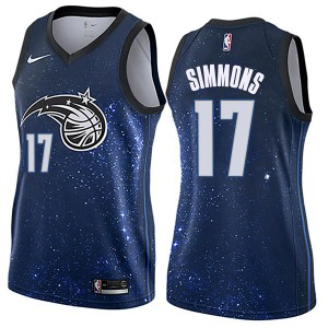 Women's Jonathon Simmons Orlando Magic Nike Swingman Blue Jersey - City Edition