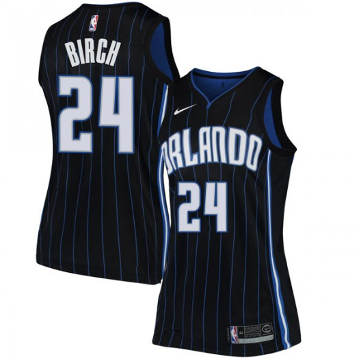 Women's Khem Birch Orlando Magic Nike Swingman Black Jersey - Statement Edition