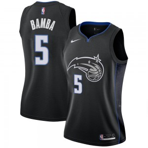 Women's Mohamed Bamba Orlando Magic Nike Swingman Black 2018/19 Jersey - City Edition
