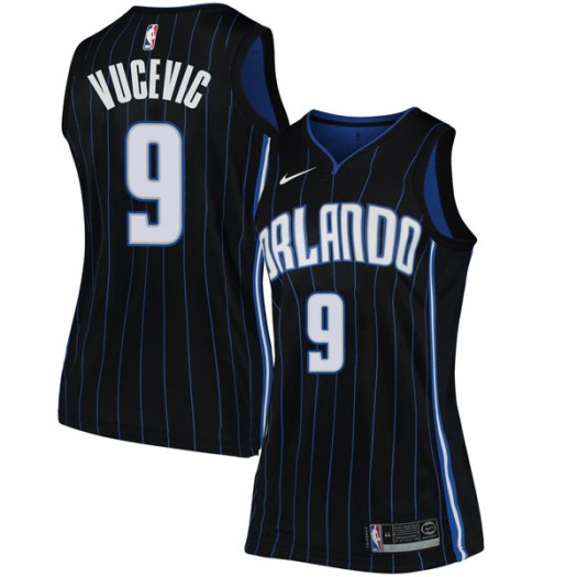 Women's Nikola Vucevic Orlando Magic Nike Swingman Black Jersey - Statement Edition