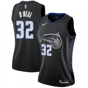 Women's Shaquille O'Neal Orlando Magic Nike Swingman Black 2018/19 Jersey - City Edition