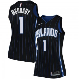 Women's Tracy Mcgrady Orlando Magic Nike Swingman Black Jersey - Statement Edition