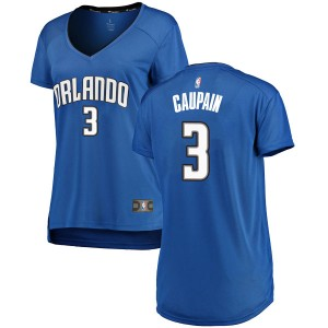 Women's Troy Caupain Orlando Magic Fanatics Branded Swingman Royal Fast Break Jersey - Icon Edition