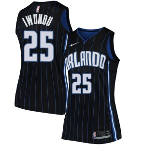 Women's Wes Iwundu Orlando Magic Nike Swingman Black Jersey - Statement Edition