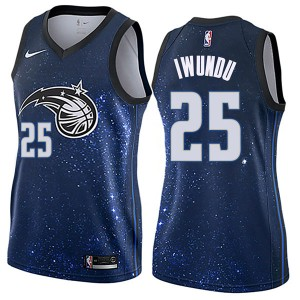 Women's Wes Iwundu Orlando Magic Nike Swingman Blue Jersey - City Edition