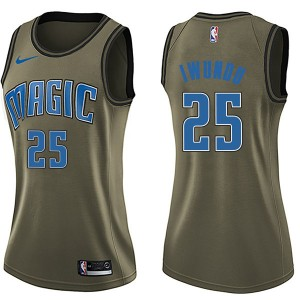 Women's Wes Iwundu Orlando Magic Nike Swingman Green Salute to Service Jersey