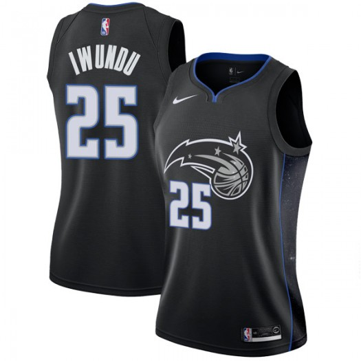Women's Wesley Iwundu Orlando Magic Nike Swingman Black 2018/19 Jersey - City Edition