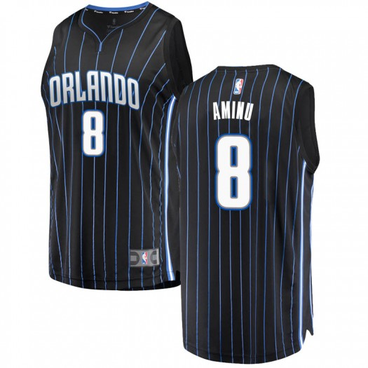 Youth Al-Farouq Aminu Orlando Magic Fanatics Branded Swingman Black Fast Break Jersey - Statement Edition