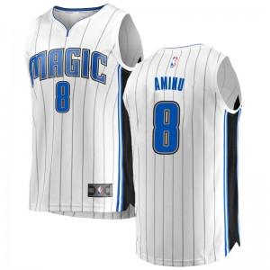Youth Al-Farouq Aminu Orlando Magic Fanatics Branded Swingman White Fast Break Jersey - Association Edition