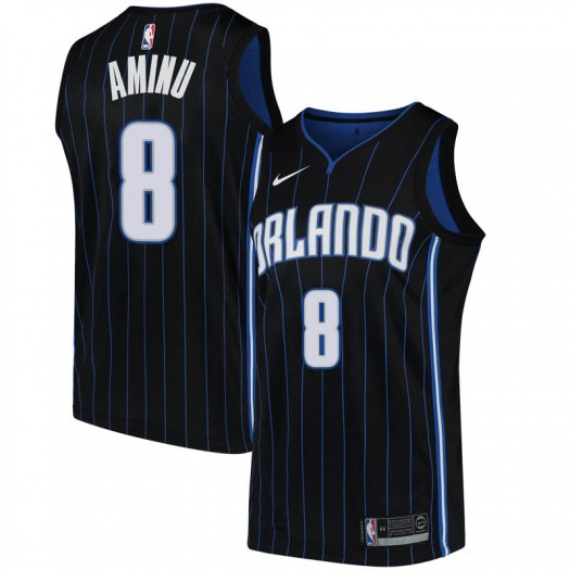 Youth Al-Farouq Aminu Orlando Magic Nike Swingman Black Jersey - Statement Edition