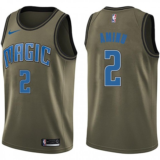 Youth Al-Farouq Aminu Orlando Magic Nike Swingman Green Salute to Service Jersey