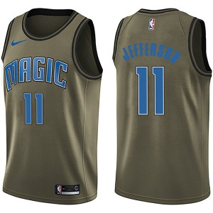 Youth Amile Jefferson Orlando Magic Nike Swingman Green Salute to Service Jersey