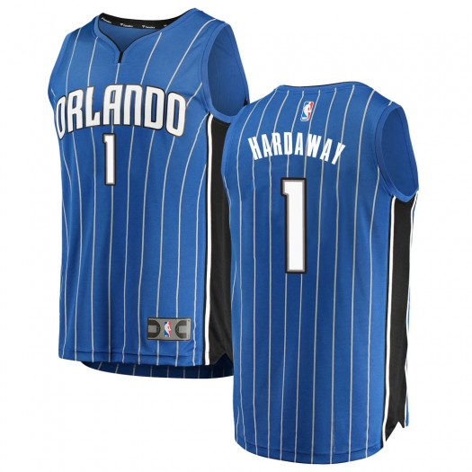 Youth Anfernee Hardaway Orlando Magic Fanatics Branded Swingman Blue Fast Break Jersey - Icon Edition