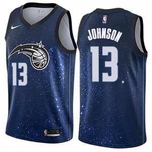 Youth B.J. Johnson Orlando Magic Nike Swingman Blue Jersey - City Edition