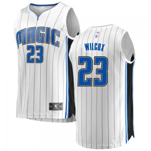 Youth C.J. Wilcox Orlando Magic Fanatics Branded Swingman White Fast Break Jersey - Association Edition