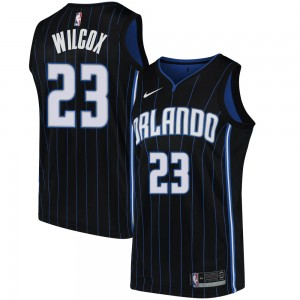 Youth C.J. Wilcox Orlando Magic Nike Swingman Black Jersey - Statement Edition