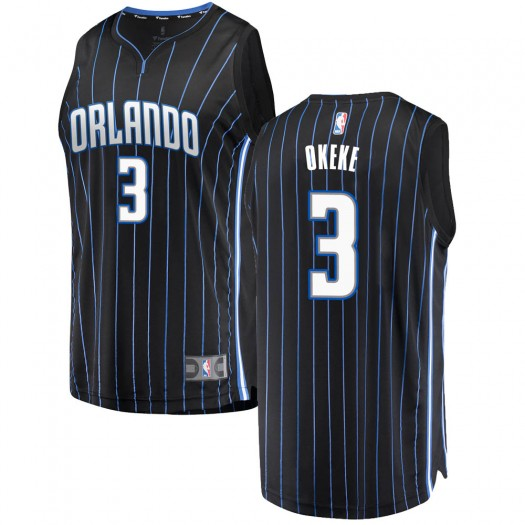 Youth Chuma Okeke Orlando Magic Fanatics Branded Swingman Black Fast Break Jersey - Statement Edition