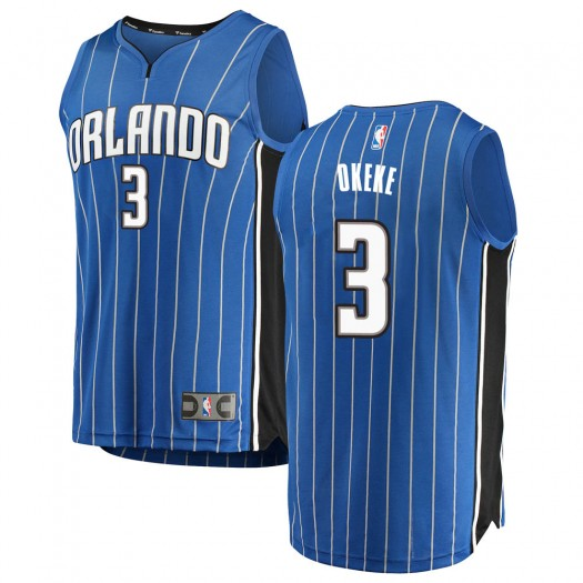 Youth Chuma Okeke Orlando Magic Fanatics Branded Swingman Blue Fast Break Jersey - Icon Edition