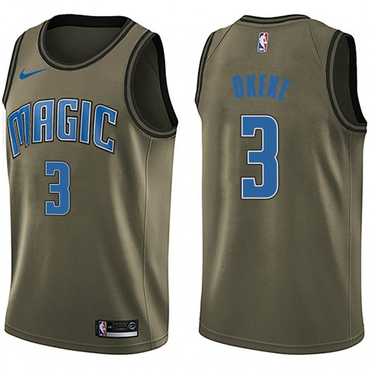Youth Chuma Okeke Orlando Magic Nike Swingman Green Salute to Service Jersey