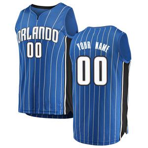 Youth Custom Orlando Magic Fanatics Branded Swingman Blue Fast Break Jersey - Icon Edition