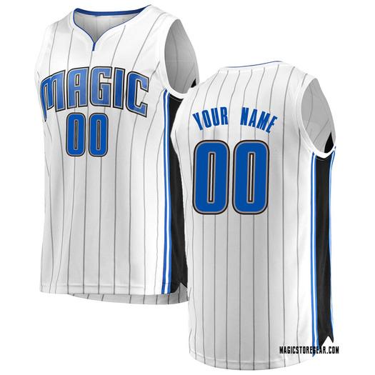 Youth Custom Orlando Magic Fanatics Branded Swingman White Fast Break Jersey - Association Edition