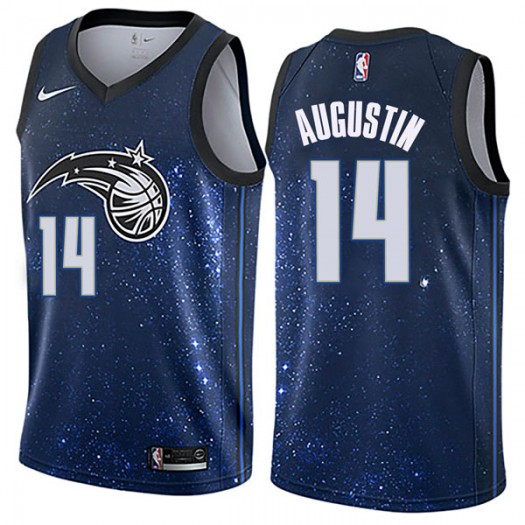 Youth D.J. Augustin Orlando Magic Nike Swingman Blue Jersey - City Edition