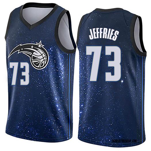 Youth DaQuan Jeffries Orlando Magic Nike Swingman Blue Jersey - City Edition