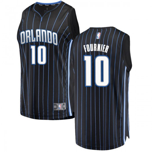 Youth Evan Fournier Orlando Magic Fanatics Branded Swingman Black Fast Break Jersey - Statement Edition