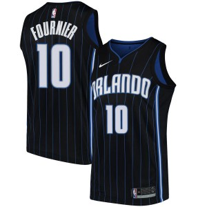 Youth Evan Fournier Orlando Magic Nike Swingman Black Jersey - Statement Edition