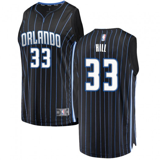 Youth Grant Hill Orlando Magic Fanatics Branded Swingman Black Fast Break Jersey - Statement Edition