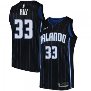 Youth Grant Hill Orlando Magic Nike Swingman Black Jersey - Statement Edition