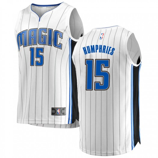 Youth Isaac Humphries Orlando Magic Fanatics Branded Swingman White Fast Break Jersey - Association Edition