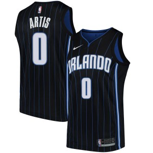 Youth Jamel Artis Orlando Magic Nike Swingman Black Jersey - Statement Edition