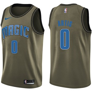 Youth Jamel Artis Orlando Magic Nike Swingman Green Salute to Service Jersey