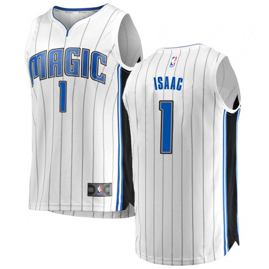 Youth Jonathan Isaac Orlando Magic Fanatics Branded Swingman White Fast Break Jersey - Association Edition
