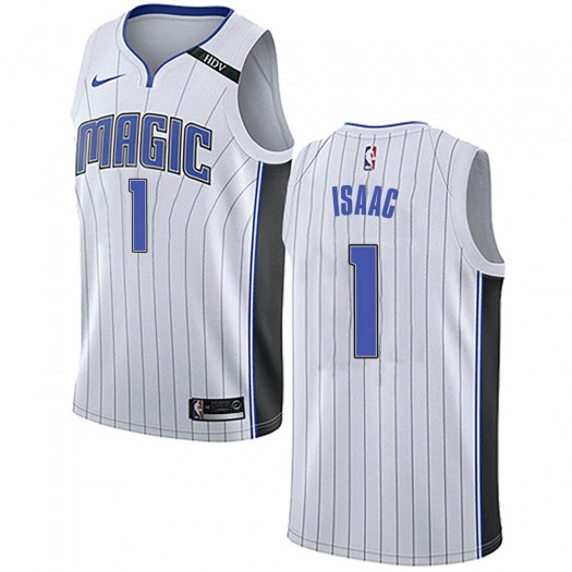 Youth Jonathan Isaac Orlando Magic Nike Swingman White Jersey - Association Edition